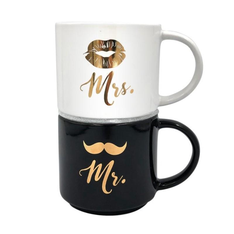 3732 Párové hrnky - Mr. a Mrs.