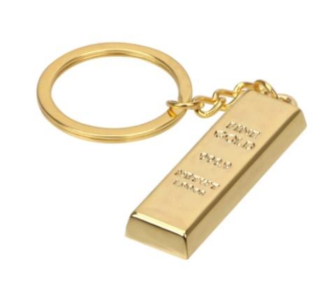3817 Přívěšek na klíče zlatá cihla