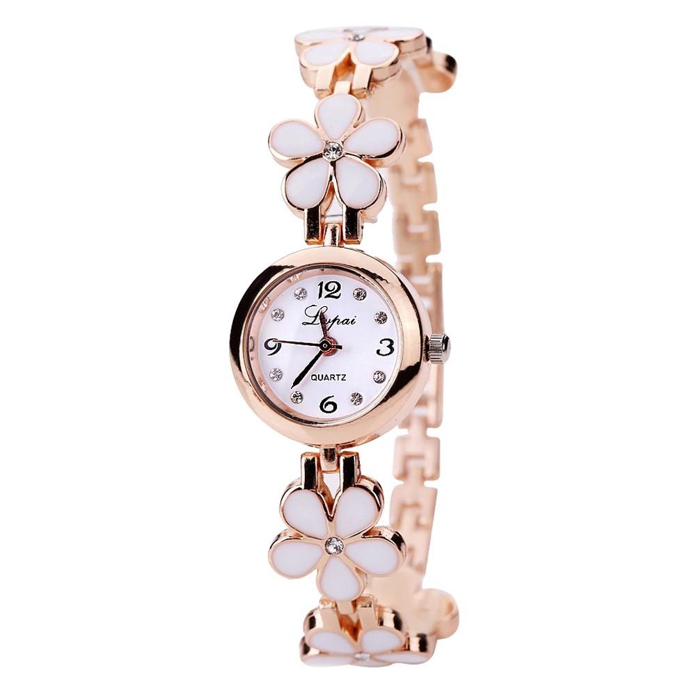 3523 Květinové hodinky - bílé