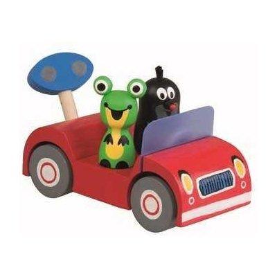 1041 Dřevěné autíčko Krtek a Žabka